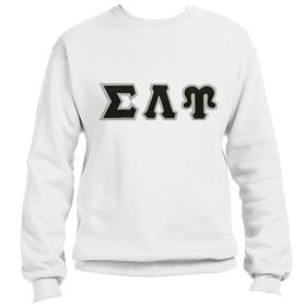 Sigma Lambda Upsilon White Crewneck1 - Adgreek