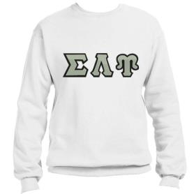 Sigma Lambda Upsilon White Crewneck3 - Adgreek