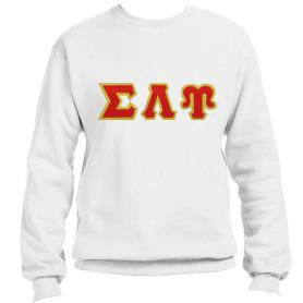 Sigma Lambda Upsilon White Crewneck4 - Adgreek
