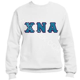 Chi Nu Alpha White Crewneck5 - Adgreek