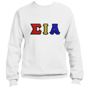 Sigma Iota Alpha White Crewneck2 - Adgreek