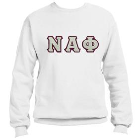 Nu Alpha Phi White Crewneck1 - Adgreek