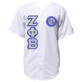 Zeta Phi Beta Solid White Baseball Jersey3 - Adgreek