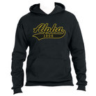 AFA Hoodie(Black)(Alpha Tail Design)(Black On Old Gold) - Adgreek
