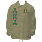 AKA Line Jacket with Crest(Green on Pink Letters with Pink Script) - Adgreek
