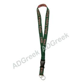 AKA Woven Embroidered Lanyard(Green) - Adgreek