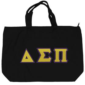 Delta Sigma Pi Black Tote Bag2 - Adgreek