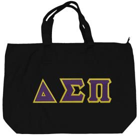 Delta Sigma Pi Black Tote Bag1 - Adgreek