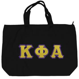 Kappa Phi Alpha Black Tote Bag1 - Adgreek