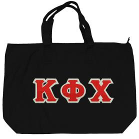 Kappa Phi Chi Black Tote Bag2 - Adgreek