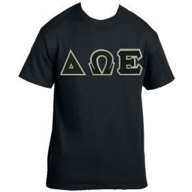 Delta Omega Epsilon Black Tshirt1 - Adgreek