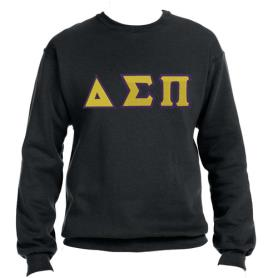Delta Sigma Pi Black Crewneck1 - Adgreek