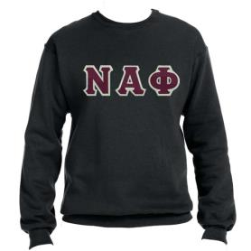 Nu Alpha Phi Black Crewneck1 - Adgreek