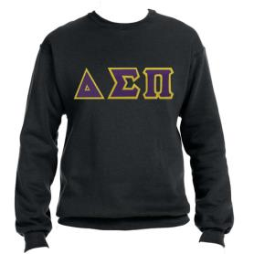 Delta Sigma Pi Black Crewneck2 - Adgreek