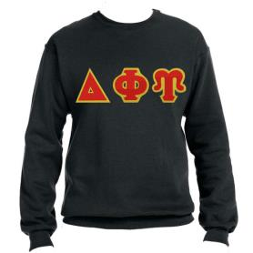 Delta Phi Upsilon Black Crewneck2 - Adgreek