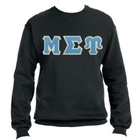 Mu Sigma Upsilon Black Crewneck1 - Adgreek