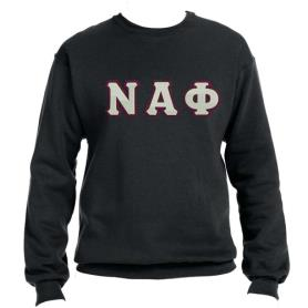 Nu Alpha Phi Black Crewneck2 - Adgreek