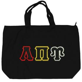 Lambda Pi Upsilon Black Tote Bag2 - Adgreek