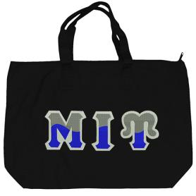 Mu Iota Upsilon Black Tote Bag1 - Adgreek