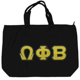 Omega PhI Beta Black Tote Bag2 - Adgreek