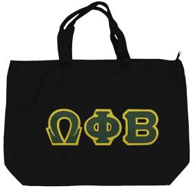 Omega Phi Beta Black Tote Bag1 - Adgreek