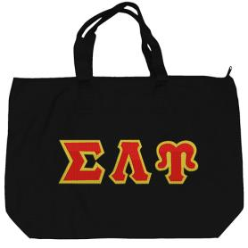 Sigma Lambda Upsilon Black Tote Bag2 - Adgreek