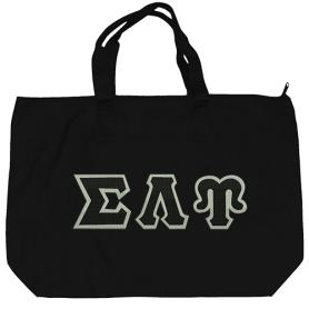Sigma Lambda Upsilon Black Tote Bag3 - Adgreek