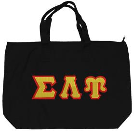 Sigma Lambda Upsilon Black Tote Bag1 - Adgreek