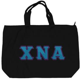 Chi Nu Alpha Black Tote Bag2 - Adgreek