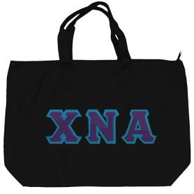 Chi Nu Alpha Black Tote Bag1 - Adgreek