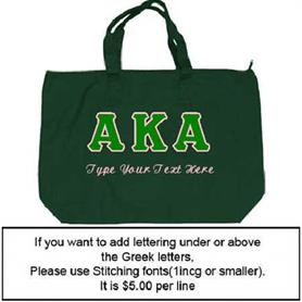 AKA Large Tote Bag - Adgreek