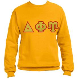 Delta Phi Upsilon Gold Crewneck1 - Adgreek