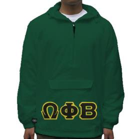 Omega Phi Beta Forest Green Pullover1 - Adgreek