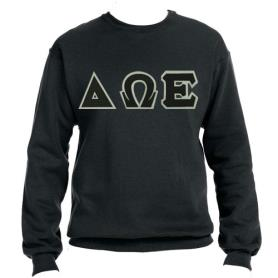 Delta Omega Epsilon Black Crewneck1 - Adgreek