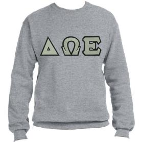 Delta Omega Epsilon Grey Crewneck1 - Adgreek