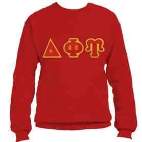 Delta Phi Upsilon Red Crewneck1 - Adgreek