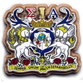 Sigma Iota Alpha  Wooden Crest - Adgreek