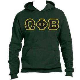 Omega Phi Beta Forest Green Hoodie1 - Adgreek