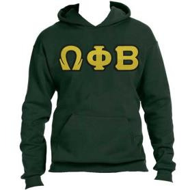 Omega Phi Beta Forest Green Hoodie2 - Adgreek