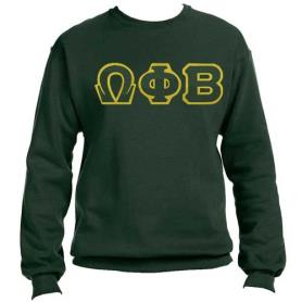 Omega Phi Beta Forest Green Crewneck1 - Adgreek