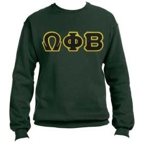 Omega Phi Beta Forest Green Crewneck2 - Adgreek