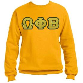 Omega Phi Beta Gold Crewneck1 - Adgreek