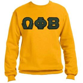 Omega Phi Beta Gold Crewneck2 - Adgreek