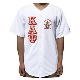 Kappa Alpha Psi White Solid Baseball Jersey1 - Adgreek