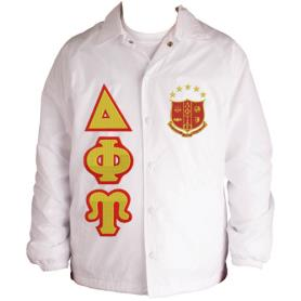 Delta Phi Upsilon White Line Jacket2 - Adgreek