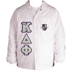 Alpha Kappa Delta Phi White Line Jacket1 - Adgreek