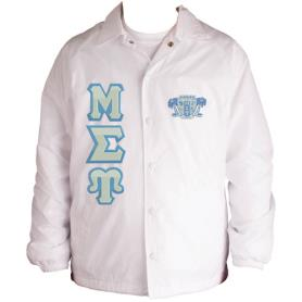Mu Sigma Upsilon White Line Jacket1 - Adgreek
