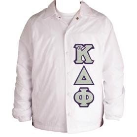 Alpha Kappa Delta Phi White Line Jacket2 - Adgreek