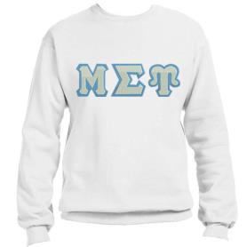 Mu Sigma Upsilon White Crewneck1 - Adgreek