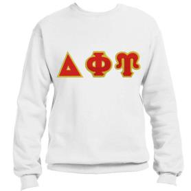 Delta Phi Upsilon White Crewneck2 - Adgreek